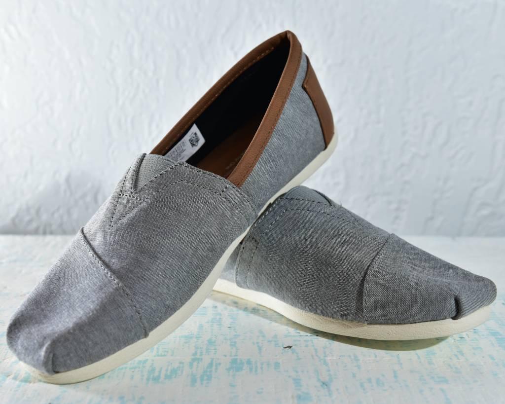 Toms Mens Shoes 10008337-MnClassicChambrayLthrTrim