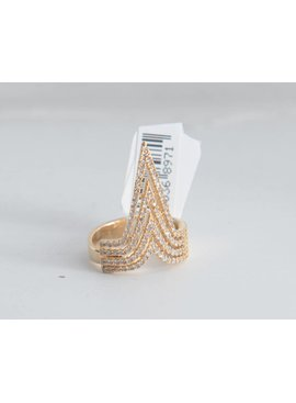 Theia Rings 28395R0040-NikeAdjustRingCZGold
