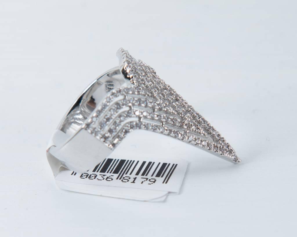 Theia Rings 28397R0040-NikeAdjustRingCZWhiteGold
