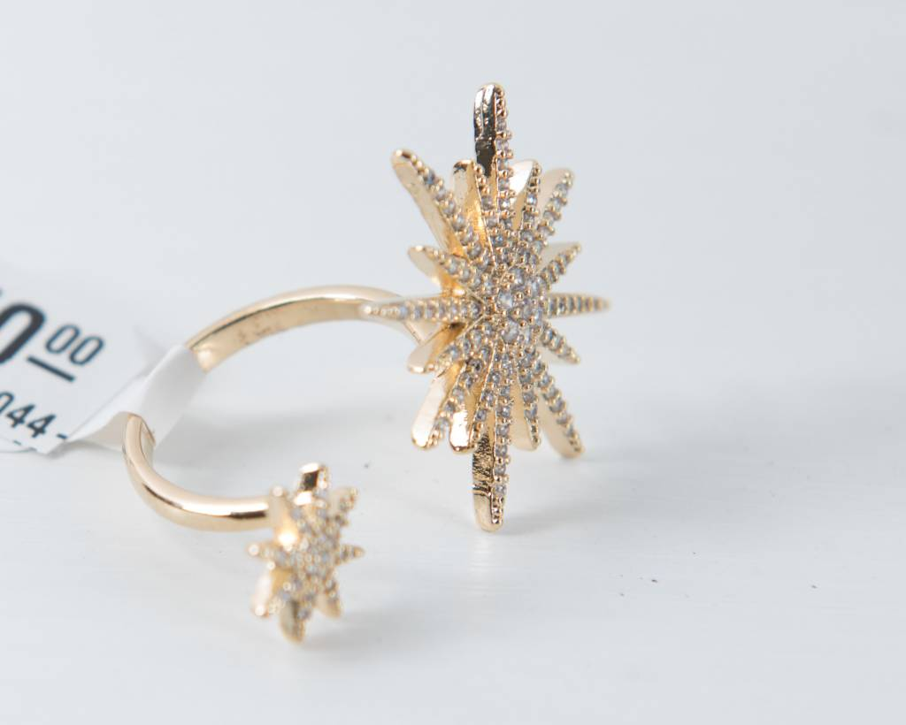 Theia Rings 28604R0044-TheiaDoubleMotifOpenRingCZGold
