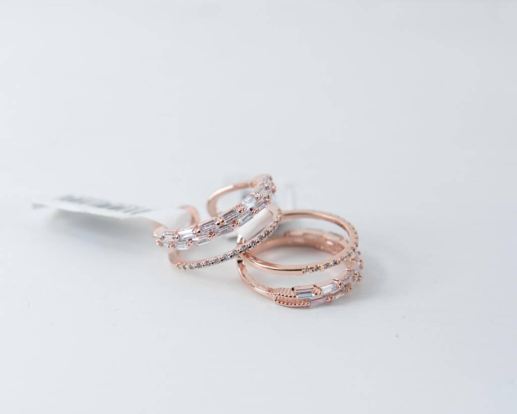 Theia Rings 29607R0028-OliviaDoubleBandAdjustRingCZRoseGold