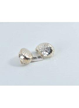 De Carol Earrings Earrings-SilverHammeredMedTeardrop