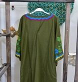 Sister Mary Dress NINA-LS/DressW/FloralEmbroidery