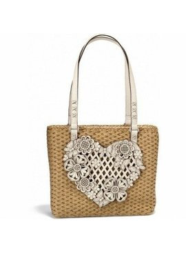 Brighton Handbag Wyld Heart Straw Tote