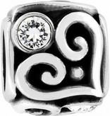 Brighton Charms Alcazar Heart Cube Bead-JC0772