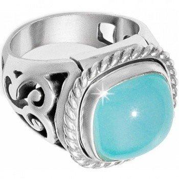 Color Clique Gem Scroll Ring Set-J62350
