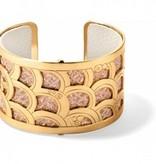 Christo Tokyo Wide Cuff Bracelet Set-JF1633