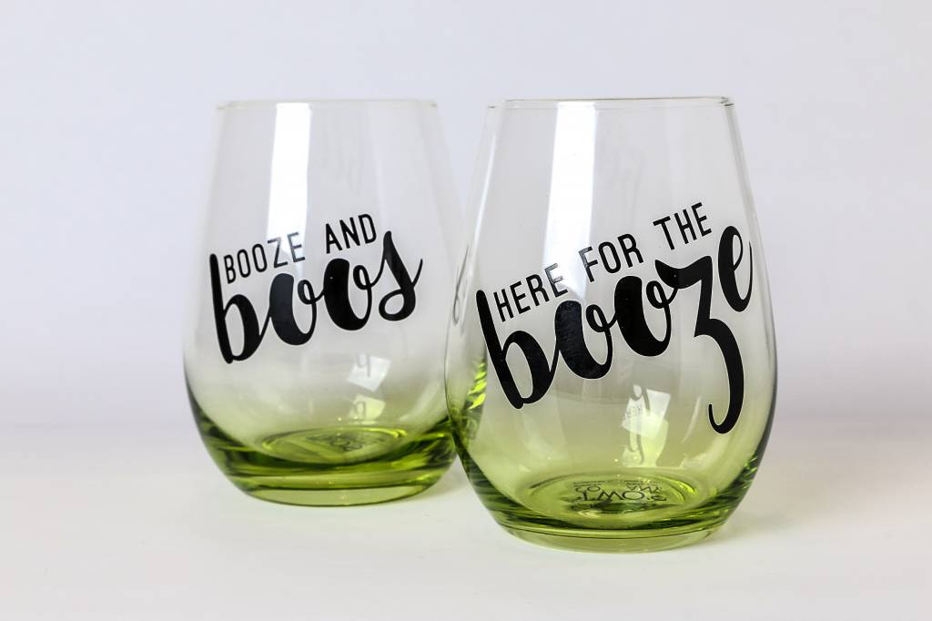 Two's Spirits and Spells Stemless Wine Glasses 81057-20