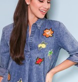 Denim Tunic With Embroidery - ED14031TL