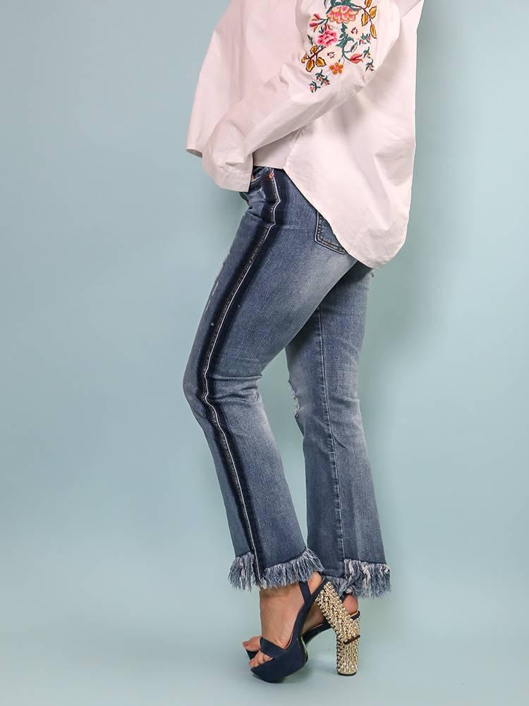 Denim Jeans With Fringe - DMP1492