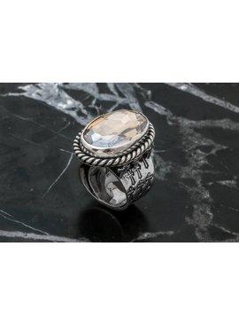Rings Ring Oval Amber Side Crosses