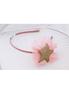 Gold Star Pink Head band