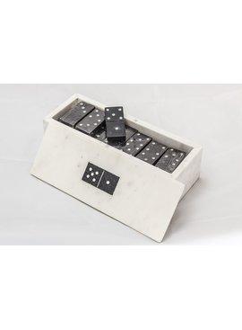 28Pc Glass Domino Box