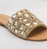 7478 - Gold Jeweled Sandals