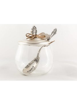 Glass Sugar Bowl Set