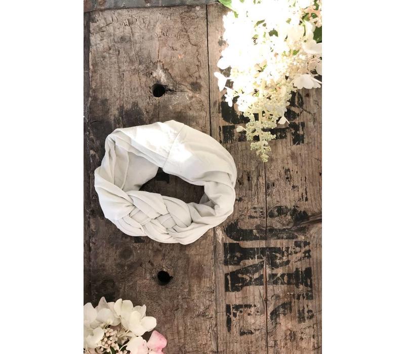 BANDEAU TWINNING - BLANC/GRIS (MÈRE/ENFANT)