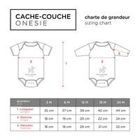 CACHE-COUCHE COURT - J'AI FAIM / NOIR
