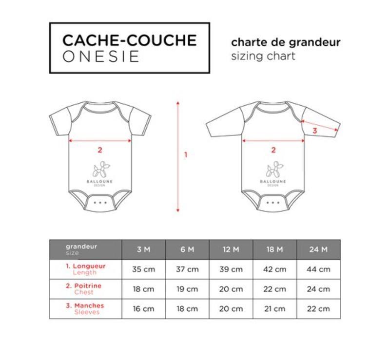 *DERNIÈRE CHANCE* 18 MOIS / CACHE-COUCHE COURT - J'AI FAIM / NOIR