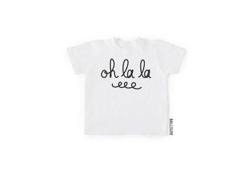 BALLOUNE DESIGN T-SHIRT - OH LA LA / BLANC