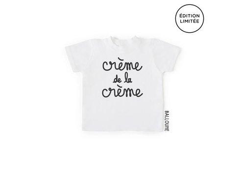 BALLOUNE DESIGN T-SHIRT - CRÈME DE LA CRÈME / BLANC