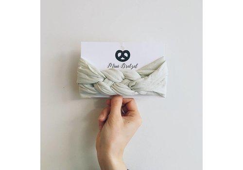 Mini Bretzel BANDEAU TWINNING - BLANC/GRIS (MÈRE/ENFANT)