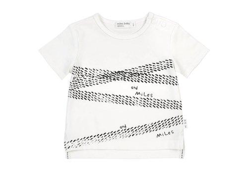Miles Baby Brand T-SHIRT TRAIL - BLANC