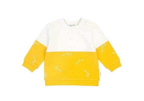 Miles Baby Brand CHANDAIL LONG MILES - BLANC/JAUNE