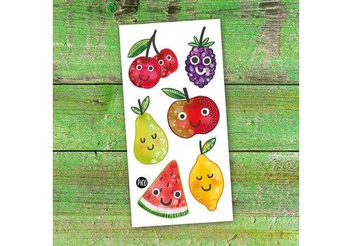 PiCO TATOUAGES TEMPORAIRES - SALADE DE FRUITS