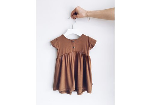 JAX AND LENNON ROBE PEPLUM - BRONZE