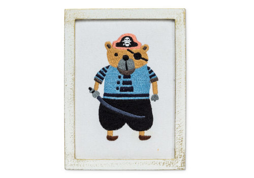 Abbott BRODERIE MURALE - OURS PIRATE