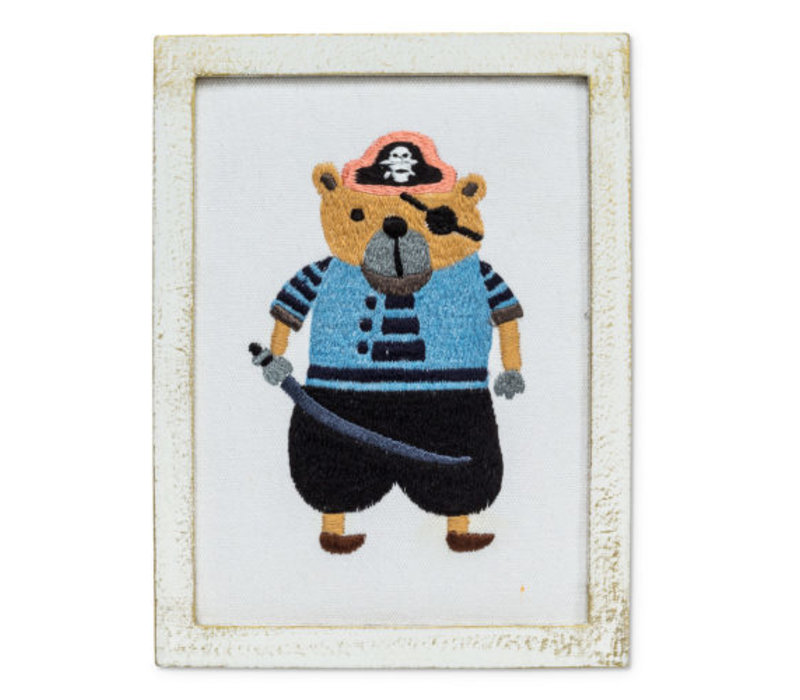 BRODERIE MURALE - OURS PIRATE