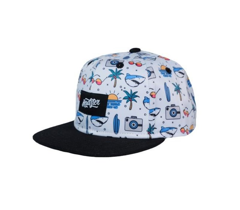 CASQUETTE BEACH MIX - BLANC