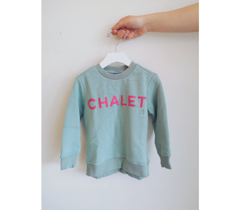 CREWNECK CHALET - BLEU GLACE