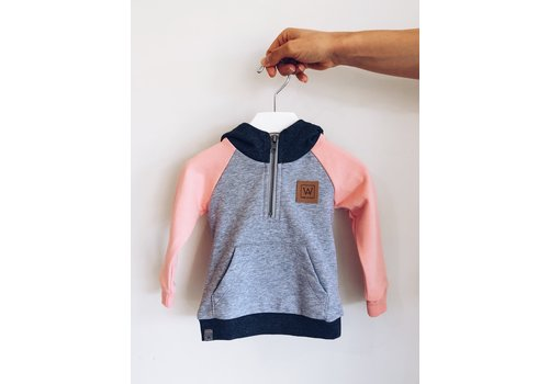 WILL&YOU HOODIE GRENOBLE - GRIS/ROSE