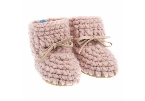 BEBA BEAN MOCASSINS EN LAINE - ROSE