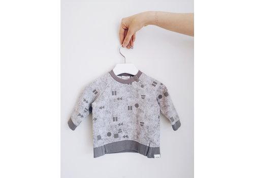 Miles Baby Brand HOODIE  JOUER/REJOUER - GRIS