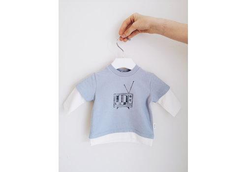 Miles Baby Brand CHANDAIL MANCHE LONGUE - RÉTRO BLEU