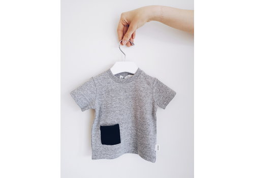 Miles Baby Brand T-SHIRT BASIC - GRIS