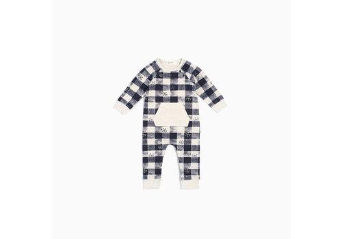 Miles Baby Brand COMBINAISON FLOCONS À CARREAUX - MARINE/BEIGE