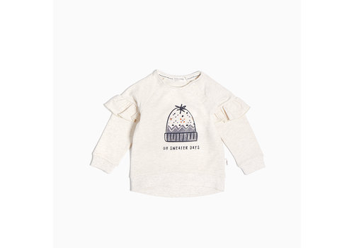 Miles Baby Brand CHANDAIL À VOLANTS VIVE L'HIVER - BEIGE