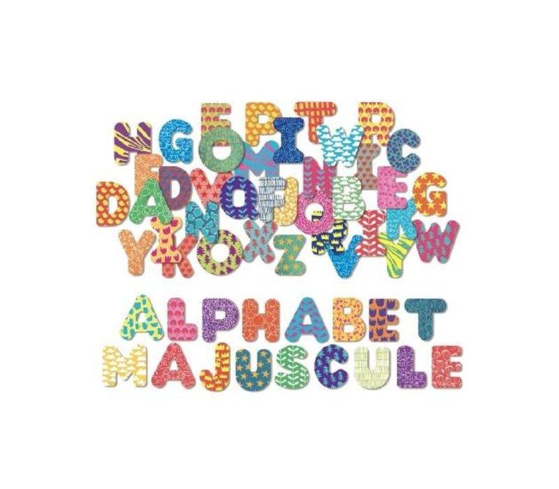 ALPHABET MAGNÉTIQUE MAJUSCULES- 56 MORCEAUX