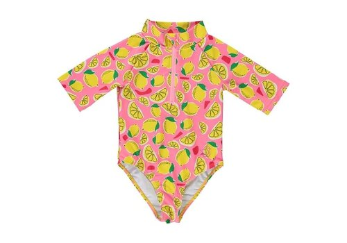 BIRDZ Children MAILLOT DE BAIN SURFER - LIMONADE ROSE