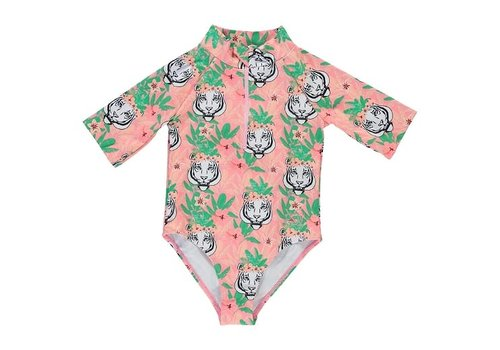BIRDZ Children MAILLOT DE BAIN SURFER - FLAMINGO TIGER