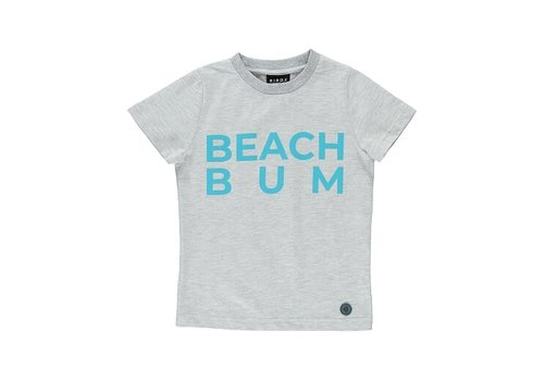 BIRDZ Children T-SHIRT BEACH BUM - GRIS PÂLE