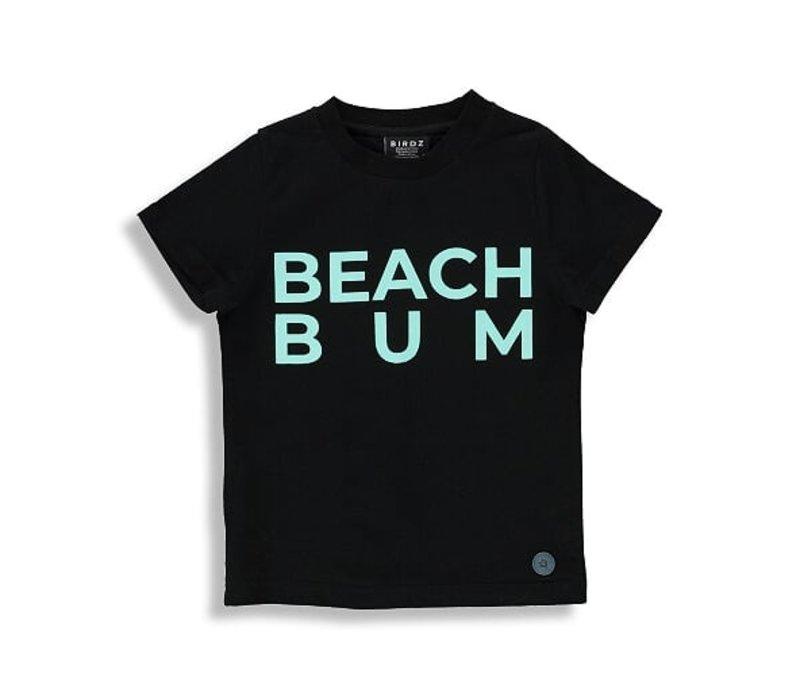 T-SHIRT BEACH BUM - NOIR