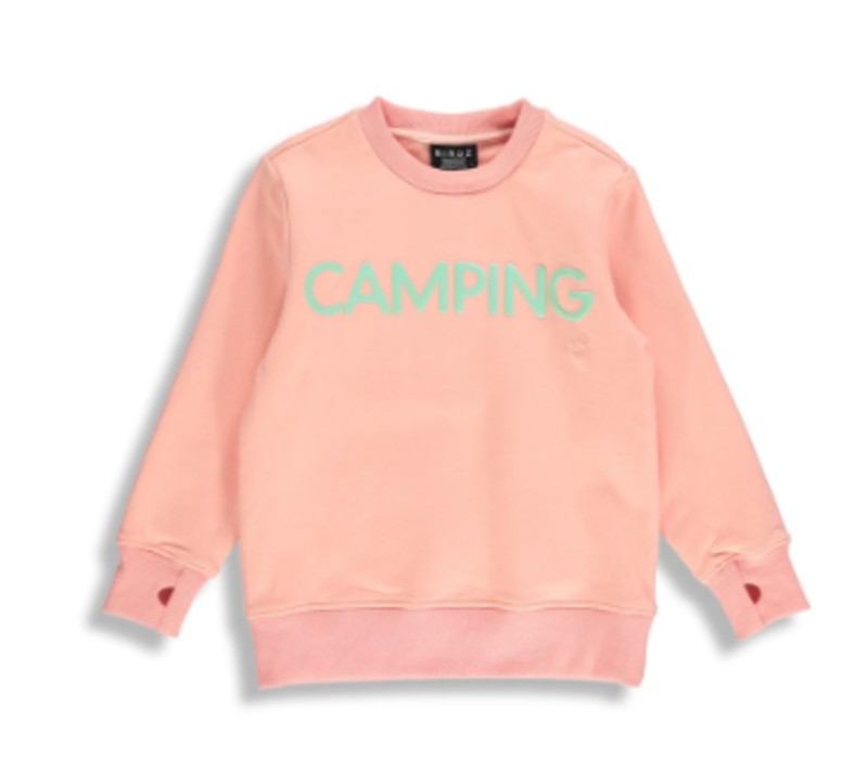 CREWNECK CAMPING - ROSE