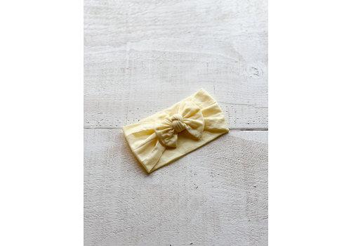Mini Bretzel BANDEAU PIVOINE - JAUNE DOUX