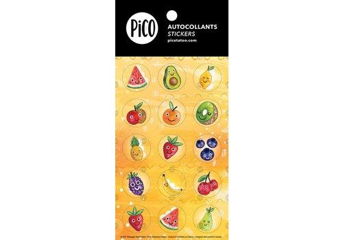 PiCO AUTOCOLLANTS - LES FRUITS EN FOLIE