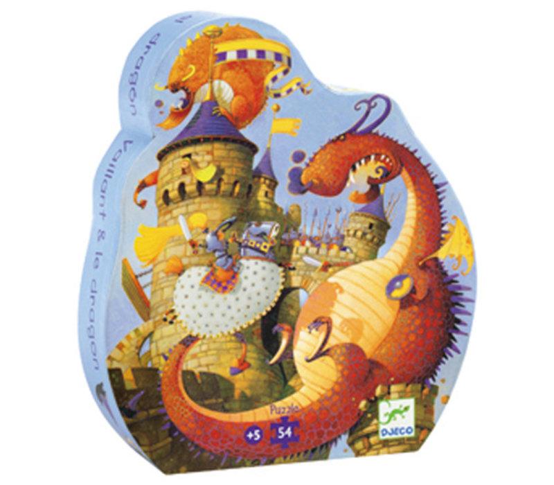 PUZZLE SILHOUETTE - VAILLANT ET LES DRAGONS