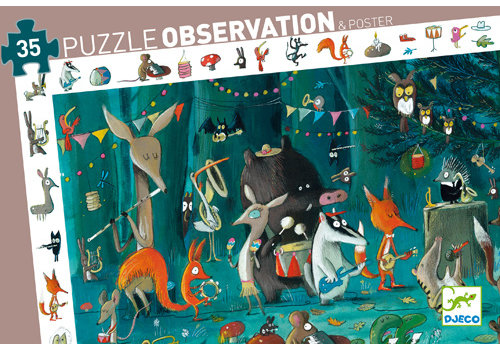 DJECO PUZZLE D'OBSERVATION (35 MCX) - L'ORCHESTRE